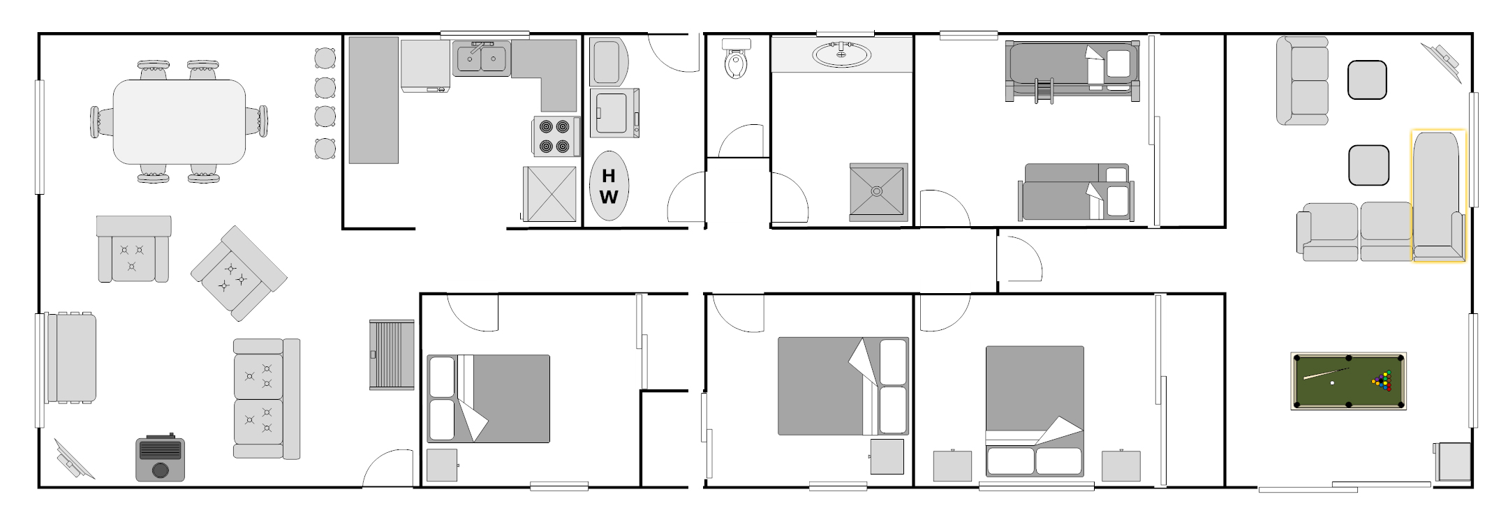Outhouse Floor Plans http://www.beachholidayhouses.com.au/clubhouse/abouthouse.html
