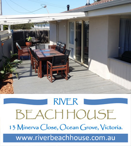 River Beach House holiday rental on the beach in Ocean Grove Victoria for let